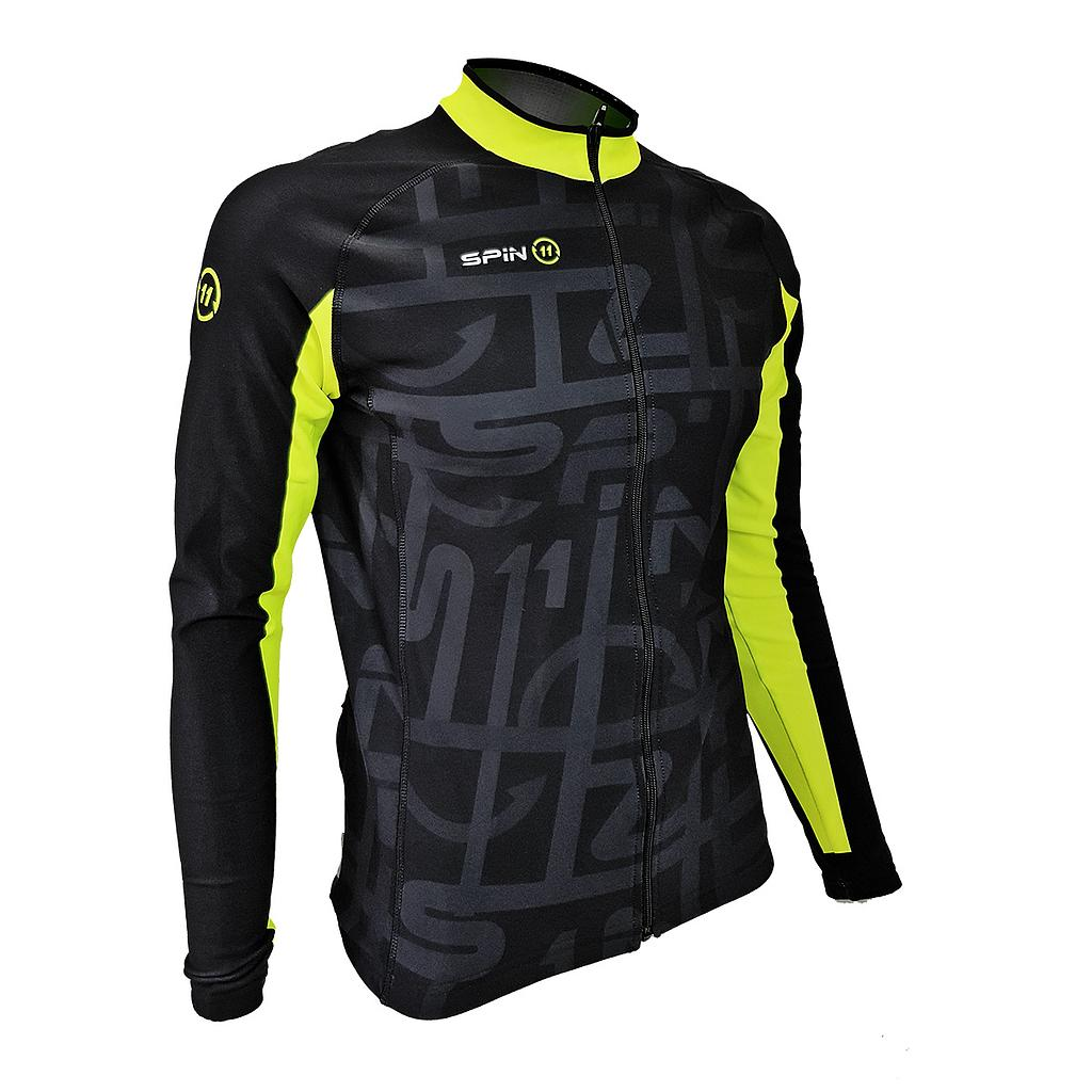 S+ Black/Fluo Long Sleeve Roubaix jersey